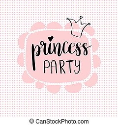 Princess Party Bridal shower card design. Birthday Girl...