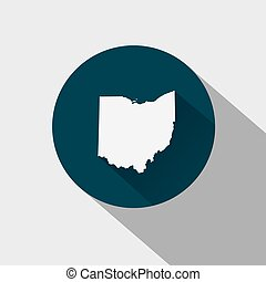 map of the U.S. state Ohio