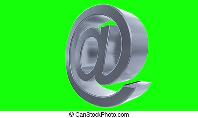 At sign symbol rotate email internet web social network e-mail digital loop 4k