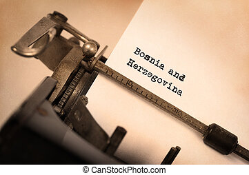 Old typewriter - Bosnia and Herzegovina - Inscription made...