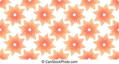 orange flowers seamless on white background. Vector...