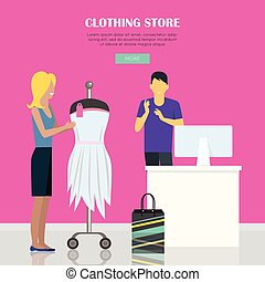Clothing Store Illustration