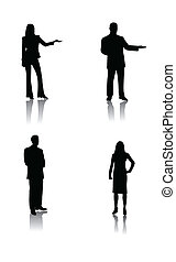 Business people / vector