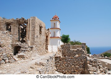 Agia Zoni church, Tilos - The church of Agia Zoni stands...