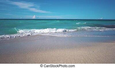 Marine surf on the beach