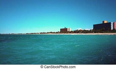 Varadero resort Cuba - Overview of the Atlantic Ocean on the...