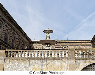 detail of palazzo pitti in florence