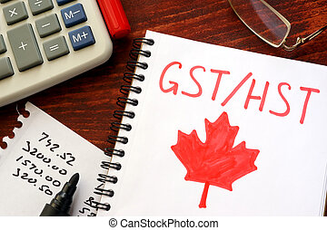 GST / HST written in a note.