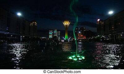 Light fountain - Light fountain in the Astana, Kazakhstan