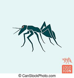 Ant icon isolated