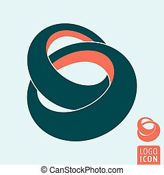 Linked rings icon - Ring icon. Linked rings symbol. Vector...