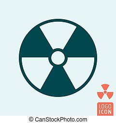 Radiation icon isolated. Hazard or warning symbol. Vector...