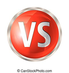 Versus button isolated - VS letters button. Versus logo...