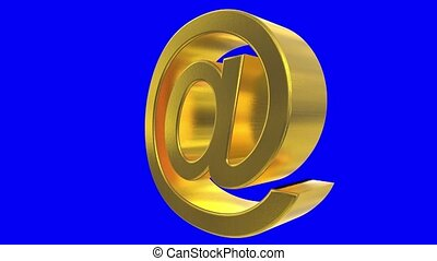 At sign symbol rotate email internet web social network...