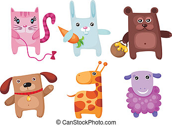 cute animal set - vector illustration of a cute animal set