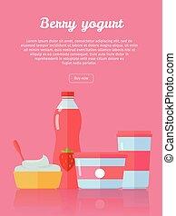 Berry Yogurt, Dairy Products from Milk - Berry yogurt...