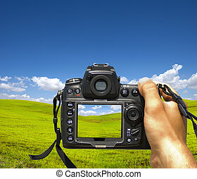 Photographing landscape