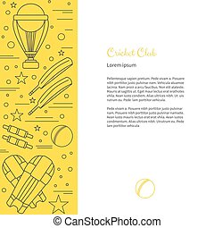 Cricket sport game graphic design concept - Flyer, poster...