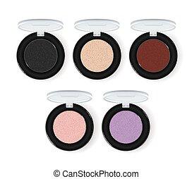 Realistic makeup cosmetics vector set