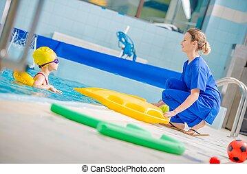riabilitazione, stagno, nuoto