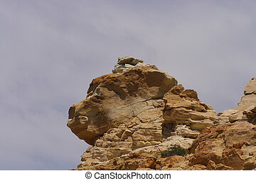 Rock Formation - A rock formation rising toward the sky.