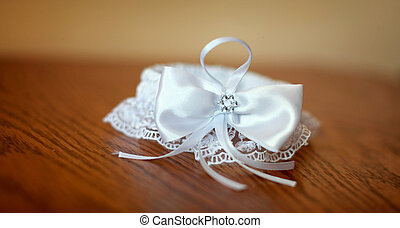 white bowtie isolated