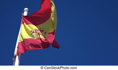 Video of Spanish Flag - High quality video of Spanish Flag