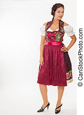 Young woman in the Dirndl
