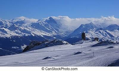 Glacier des Diablerets and Quille du Diable - Ski area...