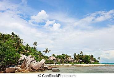 Exotic coast landscape of beautiful small island in...