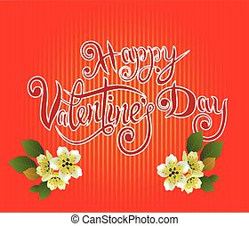 vector illustration postcard Happy Valentine s Day