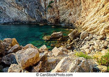 Adriatic coast in Croatia, Island Sipan. Beautiful scenery...