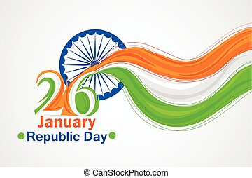 Indian tricolor flag background for Happy Republic Day