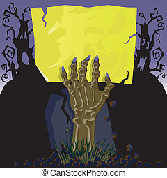 Zombie Hand Invitation - This Zombie invites you to his...