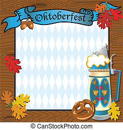 Oktoberfest Party Invitation with Beer Stein and Banner