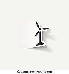 realistic design element: wind turbines