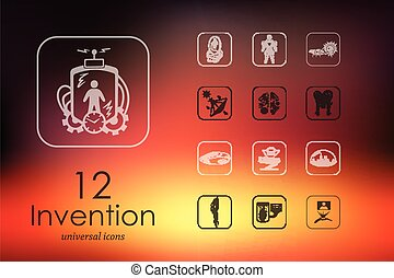 Set of invention icons - invention modern icons for mobile...
