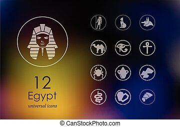 Set of Egypt icons - Egypt modern icons for mobile interface...