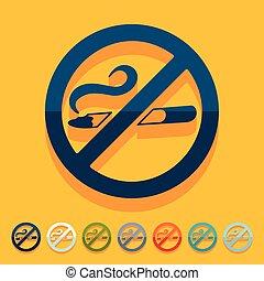 Flat design: no smoking