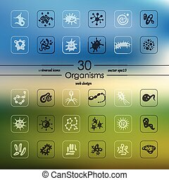 Set of organisms icons - organisms modern icons for mobile...
