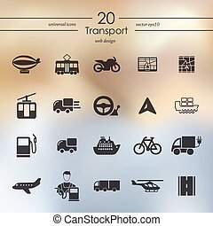 Set of transport icons - transport modern icons for mobile...