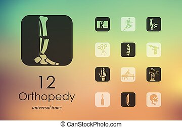 Set of orthopedics icons - orthopedics modern icons for...