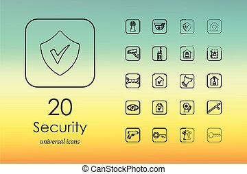 Set of security icons