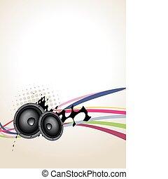 Grunge speaker music art
