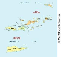 virgin islands map - virgin islands vector map