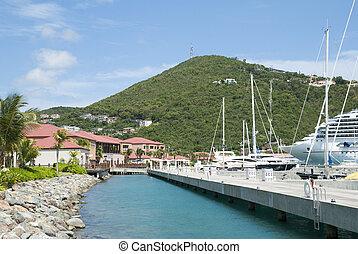 St.Thomas Island Marina - The view of marina pier in...