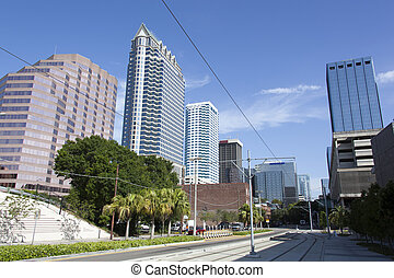 Tampa's Franklin Street - The empty S. Franklin Street on...