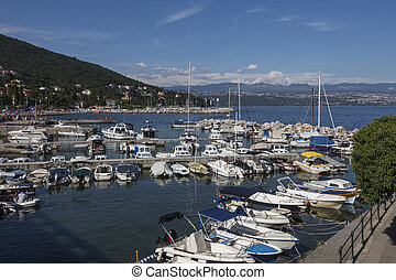 Icici - Istria Peninsula - Croatia - A small harbor in the...