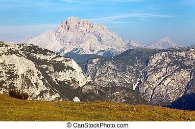 Grupo del Cristallo, Dolomites Alps Mountains, South Tirol,...