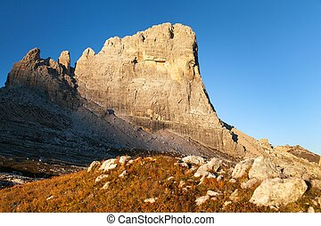 mount Beco de Mezodi, Alps dolomites mountains - Morning...